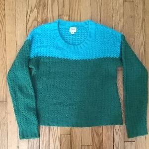 Green and teal mossimo sweater